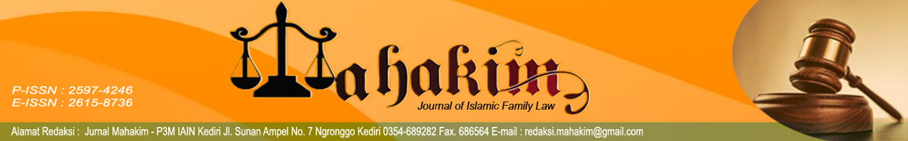 Mahakim: Journal of Islamic Family Law
